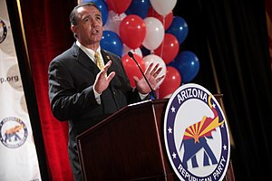 Trent Franks - Congressman Franks speaking at a rally in August 2014.