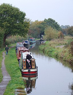 Trent and Mersey Canal at Branston, Staffordshire - geograph.org.uk - 1556399