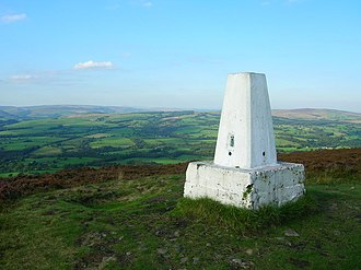 Forest of Bowland - A trig point on Longridge Fell