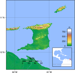 Topography of Trinidad and Tobago