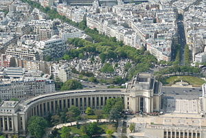 16th arrondissement of Paris - View of Place du Trocadéro