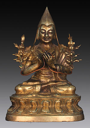 Je Tsongkhapa - Bronze depicting Tsongkhapa, who is known and revered by Mongolians as Bogd Zonkhova.
