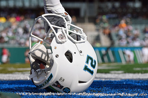Tulane Green Wave football helmet (during game)