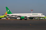 Turkmenistan Boeing 757 at Domodedovo 30-Jul-2010.jpg