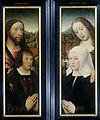 Twee vleugels van een drieluik met de stichter, Thomas Isaacq (?-1539-40) vergezeld door de heilige Thomas (buitenzijde linkervleugel) en de echtgenote van de stichter vergezeld door de Rijksmuseum SK-A-962-B.jpeg