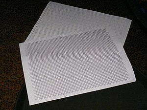 Graph paper - Image: Two styles of graph paper (5843580902)