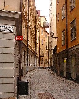 Tyska Skolgränd alley in Gamla stan, Stockholm, Sweden