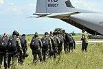 U.S. Airmen jump with Bulgarians during two-week flying training (9402823642).jpg