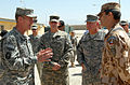 U.S. Army Gen. Stanley McChrystal, left, talks with a Czech soldier, right, during his visit to Forward Operating Base Shank, Afghanistan, Aug. 21, 2009 090821-A-OB963-173.jpg
