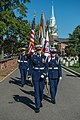 U.S. Coast Guardsmen with the Ceremonial Honor Guard participate in an internment service at the Old Post Chapel near the Arlington National Cemetery, Oct. 15, 2013 131015-G-RT555-688.jpg