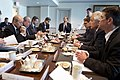 U.S. Defense Secretary Chuck Hagel meets with French Defense Minister Jean-Yves Le Drian at the Pentagon 140124-D-BW835-070.jpg