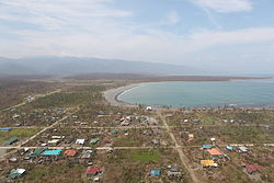 Aerial view of Divilacan after Super Typhoon Megi (PAGASA name: Juan)