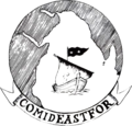 U.S. Navy Commander, Middle East Force insignia, in 1972.png