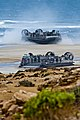 U.S. Navy landing craft, air cushion with Assault Craft Unit 4 land on a beach at Cap Draa, Morocco, after departing the amphibious assault ship USS Iwo Jima (LHD 7) April 12, 2012 120412-N-QM601-104.jpg