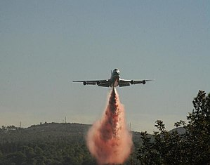 747 Supertanker - The 747 Supertanker during the 2010 Carmel forest fires in Israel