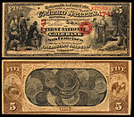 alt1=$5 National Gold Bank Note, The First National Gold Bank of San Francisco