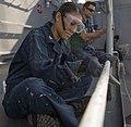 USS Comstock preservation work 150105-N-CU914-010.jpg