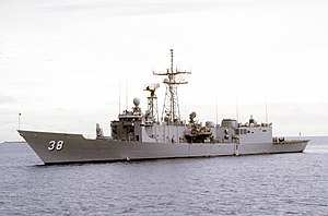 USS Curts (FFG-38) underway on 16 November 1992 (6485321)