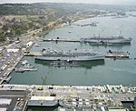 USS Dixon (AS-37) and McKee (AS-41) at San Diego 1987.JPEG