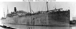USS Patricia at Boston, 28 April 1919