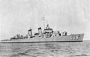 USS Tingey (DD-539) in the 1950s