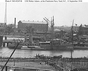 USS Walter Adams (SP-400) fitting out