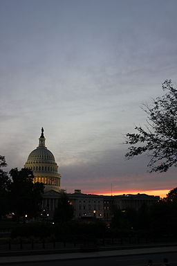 US Capitol Building, sunset