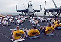 US Navy 020807-N-9809D-002 Newly selected Chief Petty Officers begin physical fitness period aboard CVN 73.jpg