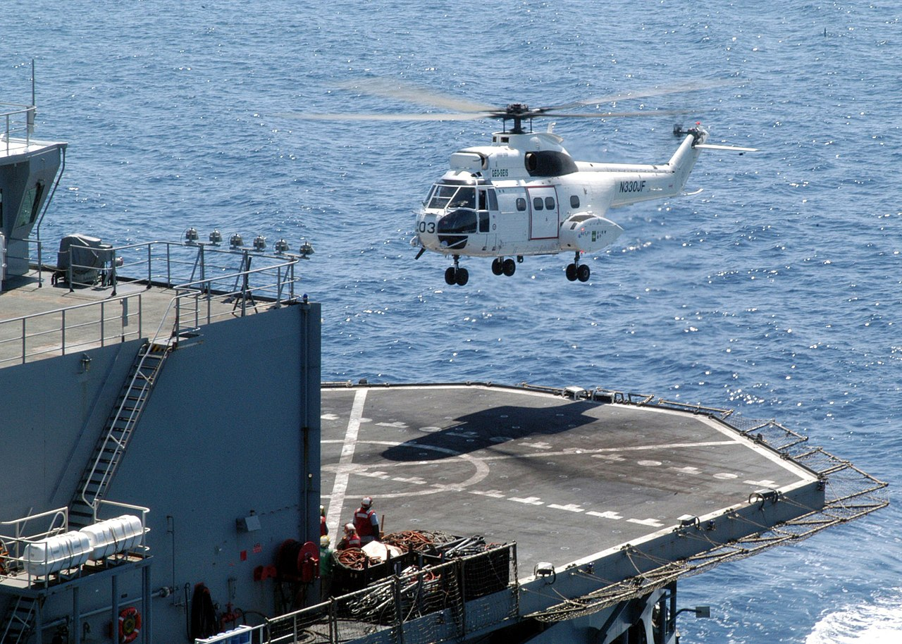 Navy Hovering Above The