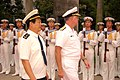 US Navy 061115-M-4217A-003 Commander, Pacific Fleet Adm. Gary Roughead walks alongside Vice Adm. Gu Wengen, Commander of the People's Liberation Army (Navy) South Sea Fleet during a courtesy call.jpg