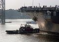US Navy 070827-N-5248R-002 Nuclear-powered aircraft carrier USS George Washington (CVN 73) departs Norfolk Naval Shipyard.jpg