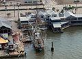 US Navy 080919-N-6575H-538 An aerial photograph of the tall ship Elissa, moored in Galveston, Texas.jpg