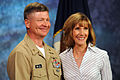 US Navy 100226-N-9818V-219 Master Chief Petty Officer of the Navy (MCPON) Rick West and his wife, Bobbie, record a family readiness video.jpg