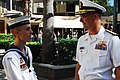 US Navy 100501-N-7843A-134 Rear Adm. Richard Landolt, commander of Amphibious Force U.S. Seventh Fleet, speaks with Australian navy Cadet Jeremy Orr after a Battle of the Coral Sea commemoration ceremony.jpg