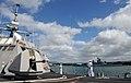 US Navy 100624-N-7058E-319 The littoral combat ship USS Freedom (LCS 1) passes the Battleship Missouri Memorial in Pearl Harbor.jpg