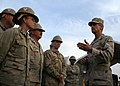 US Navy 110406-N-6748R-069 Rear Adm. Michael Tillotson speaks with Sailors at Kandahar Airfield.jpg