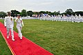 US Navy 110701-N-IK959-513 Vice Adm. Ann E. Rondeau, president of National Defense University, troops the line with Capt. Steven G. Bethke, command.jpg