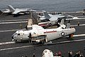 US Navy 110702-N-KF029-022 Aircraft assigned to Carrier Air Wing (CVW) 14 prepare to catapult from the aircraft carrier USS Ronald Reagan (CVN 76).jpg