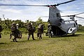 US Navy 111016-A-ZZ999-003 A U.S. Marine Corps CH-46E Sea Knight helicopter embarks Marines for transportation from Matuntugo Colombia to the amphi.jpg