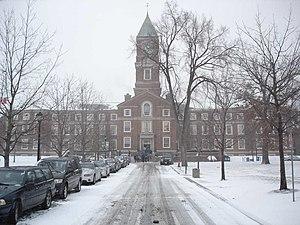 UCC's Upper School on a snowy winter morning