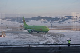 Baikal International Airport - S7 Airlines Boeing 737-800 taxiing