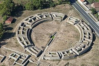 Romania - Ruins of the amphitheatre at Ulpia Traiana Sarmizegetusa (the capital of Roman Dacia).