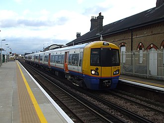 South London line - A London Overground train at Clapham High Street