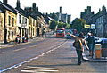 United Automobile Services bus stop and Bristol bus in 1976.jpg