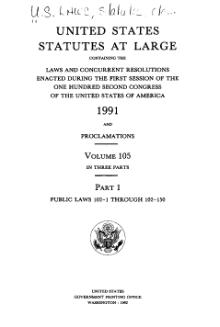 United States Statutes at Large Volume 105 Part 1.djvu