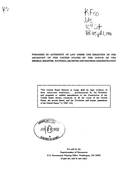 File:United States Statutes at Large Volume 105 Part 1.djvu