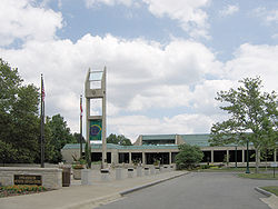 The Upper Arlington Municipal Services Center functions as the seat of city government as well as police headquarters
