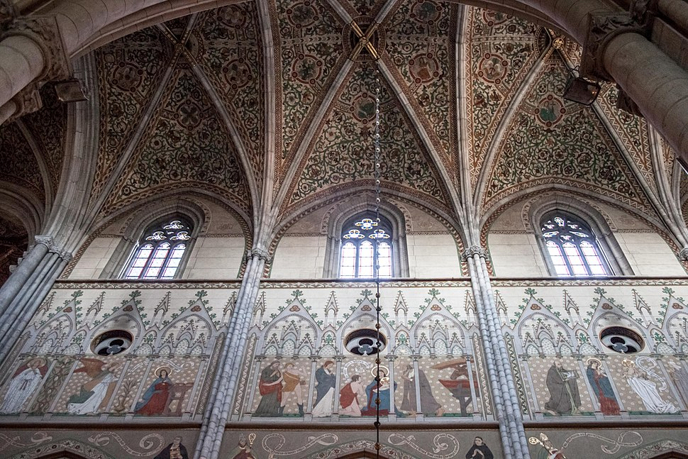 Uppsala cathedral - wall and ceiling paintings