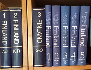 Uppslagsverket Finland - Printed editions of the encyclopaedia.