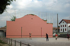 Basque pelota - A game of pelota as played in Ustaritz